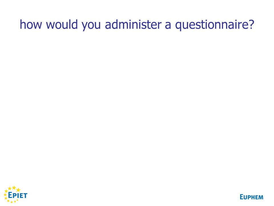 how would you administer a questionnaire