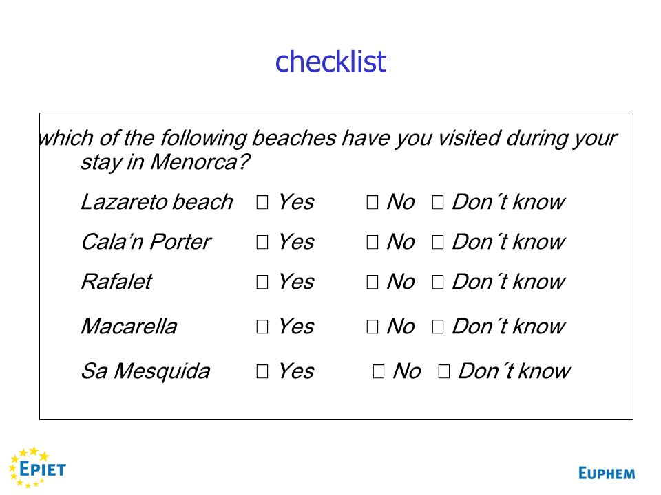 which of the following beaches have you visited during your stay in Menorca.