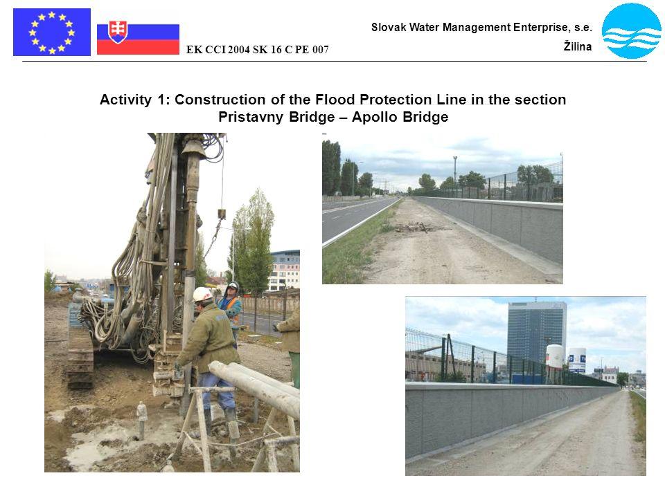 Bratislava - flood protection Slovak Water Management Enterprise, s.e. Žilina EK CCI 2004 SK 16 C PE 007 Activity 1: Construction of the Flood Protect