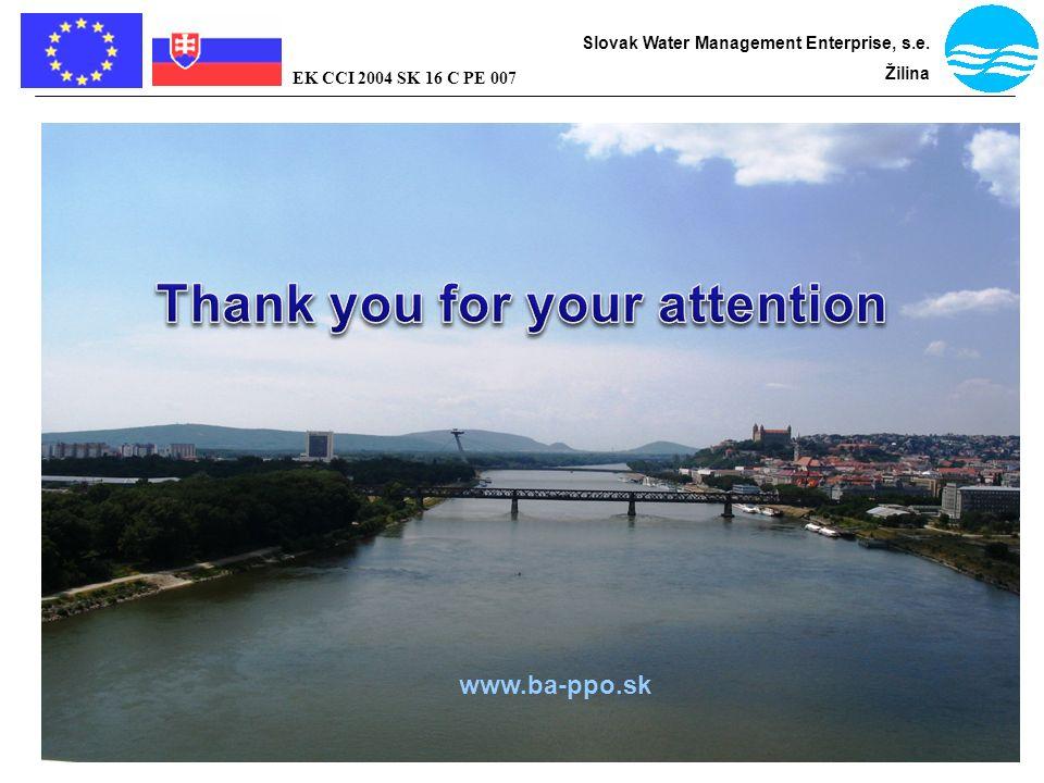 Bratislava - flood protection Slovak Water Management Enterprise, s.e. Žilina EK CCI 2004 SK 16 C PE 007 www.ba-ppo.sk