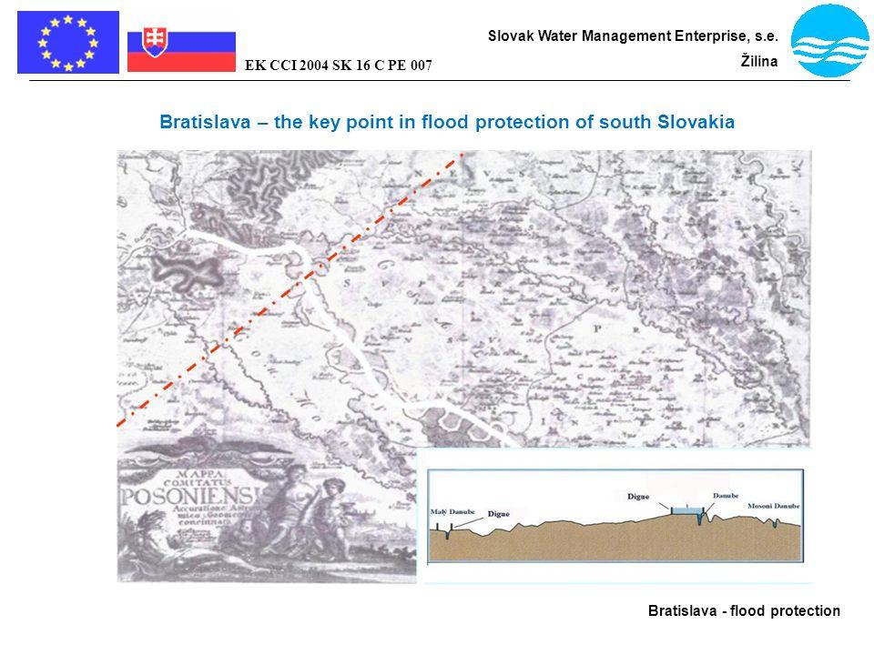 Bratislava - flood protection Slovak Water Management Enterprise, s.e. Žilina EK CCI 2004 SK 16 C PE 007 Bratislava – the key point in flood protectio