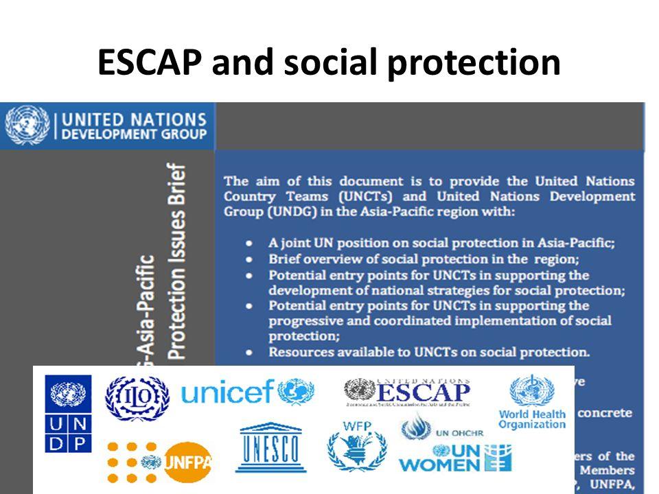 ESCAP and social protection