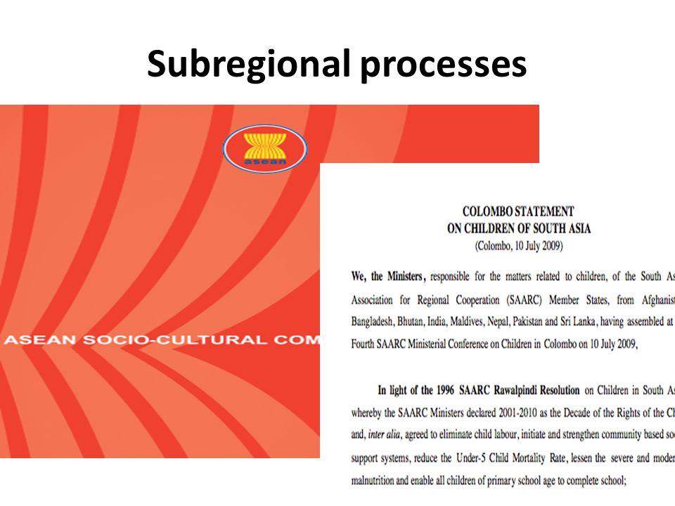 Subregional processes