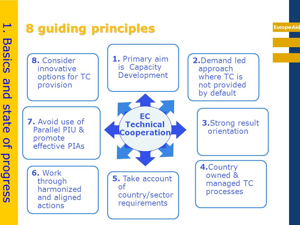 EuropeAid 8 guiding principles 7.