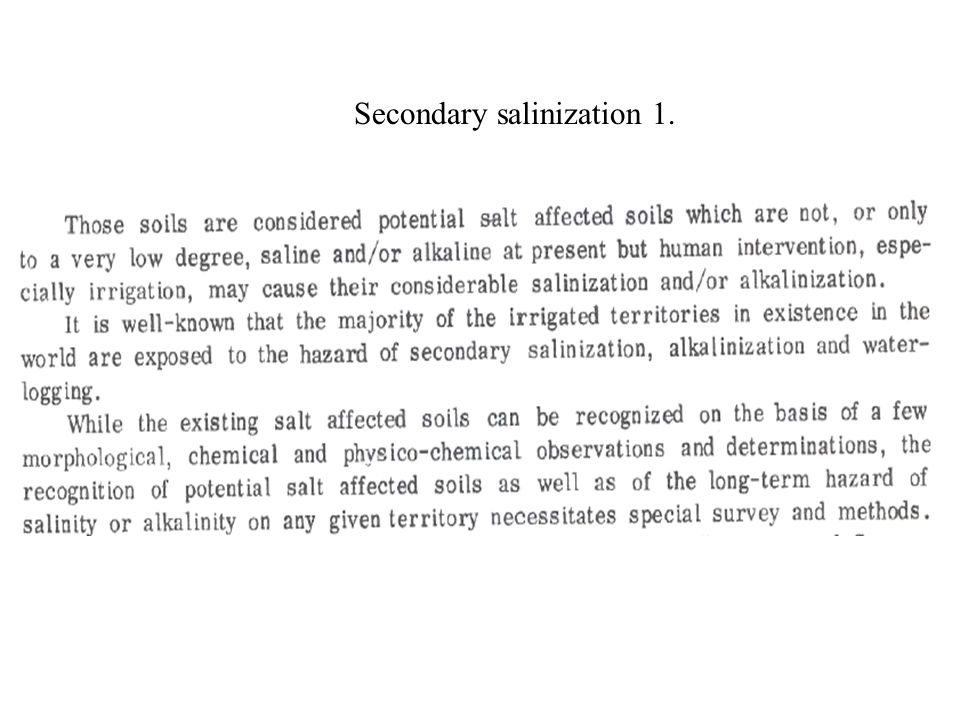 Secondary salinization 1.
