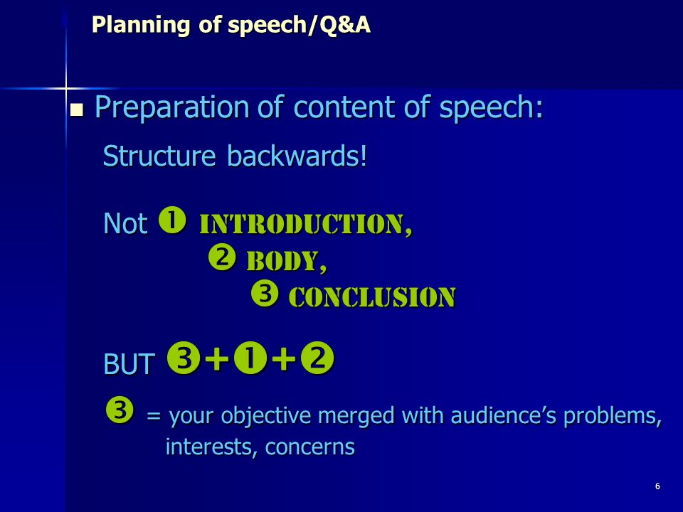 17 Presenting/public speaking Dealing with difficult questions Dealing with difficult questions Some general tips for answers: Find a way to agree at least partly Answer briefly, simply and directl Dissolve bundle of unclear question and pick out the main issue Treat two questions from the same person as two questions (take notes!)