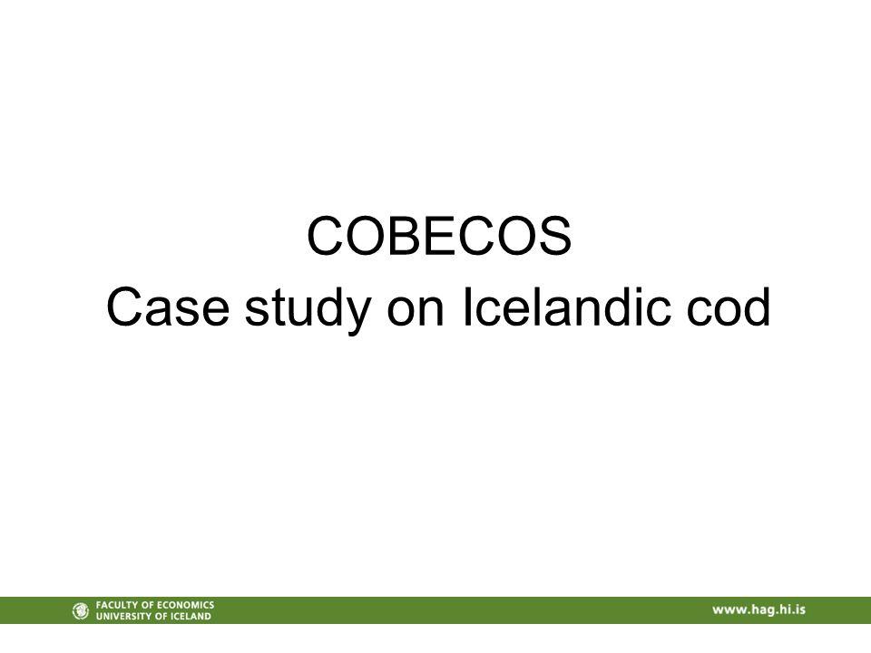 COBECOS Case study on Icelandic cod