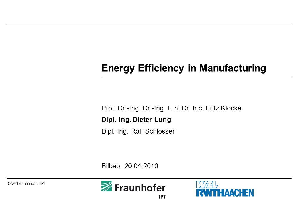 © WZL/Fraunhofer IPT Energy Efficiency in Manufacturing Prof. Dr.-Ing. Dr.-Ing. E.h. Dr. h.c. Fritz Klocke Dipl.-Ing. Dieter Lung Dipl.-Ing. Ralf Schl