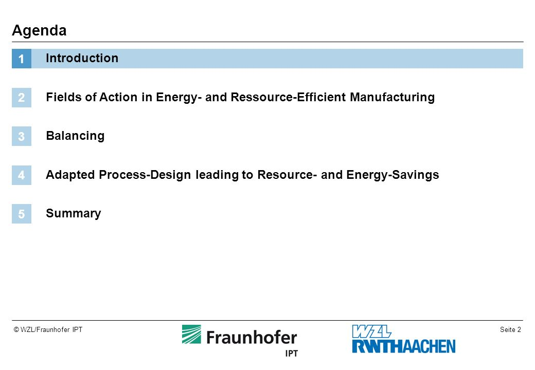 Seite 13© WZL/Fraunhofer IPT Assessment of a tool changer in machine tools (ECO-Footprint) The life cycle as the balance envelope Sum PT Packaging PT Hydraulic/ pneumatic PT Machine enclosure PT Coolant system PT Tool changer PT Head PT Z-Module PT Y-Module PT X-Module PT 45719,3479,23137,0113,82417,1814,815073,03427,09116,711140,7 % Eco-Points PT Eco-Indicator PT Inputs/OutputsActivityLife cycle phase 3,730,10,086C45MaterialRaw material manufact.