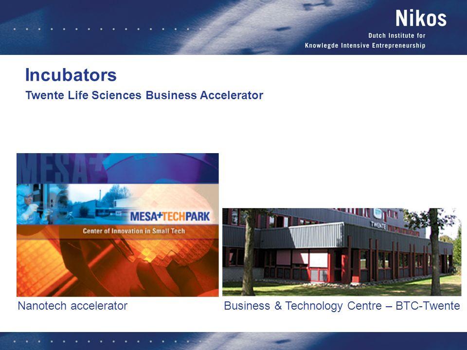 Business & Technology Centre – BTC-Twente Nanotech accelerator Twente Life Sciences Business Accelerator Incubators