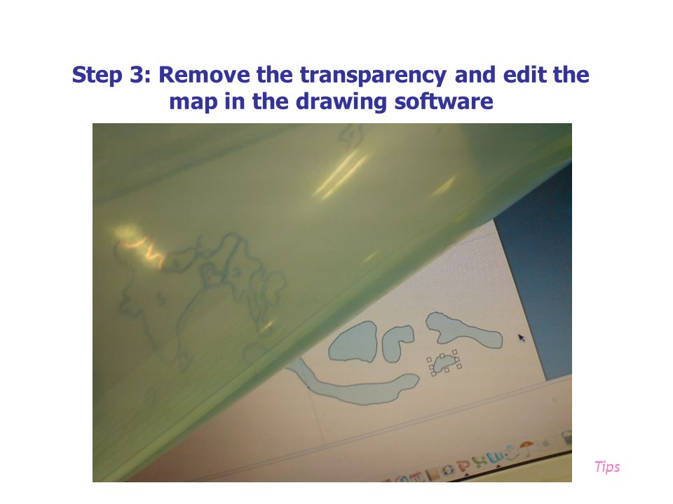 Step 3: Remove the transparency and edit the map in the drawing software Tips