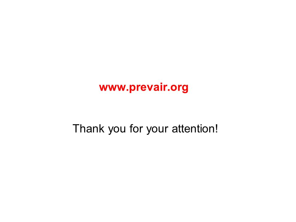 www.prevair.org Thank you for your attention!