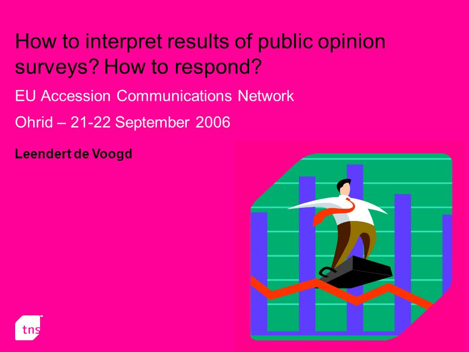 12 Interpretation of the results (contd) While interpreting results we must keep extra attention to the following: At an individual level: Age or ageing effect : public opinion vary with age, whatever the generation considered is Generation effect : public opinion is typical from one generation; the youngest, while ageing, do not have the same response pattern as the oldest Period effect: public opinion evolve in time, whatever the age.