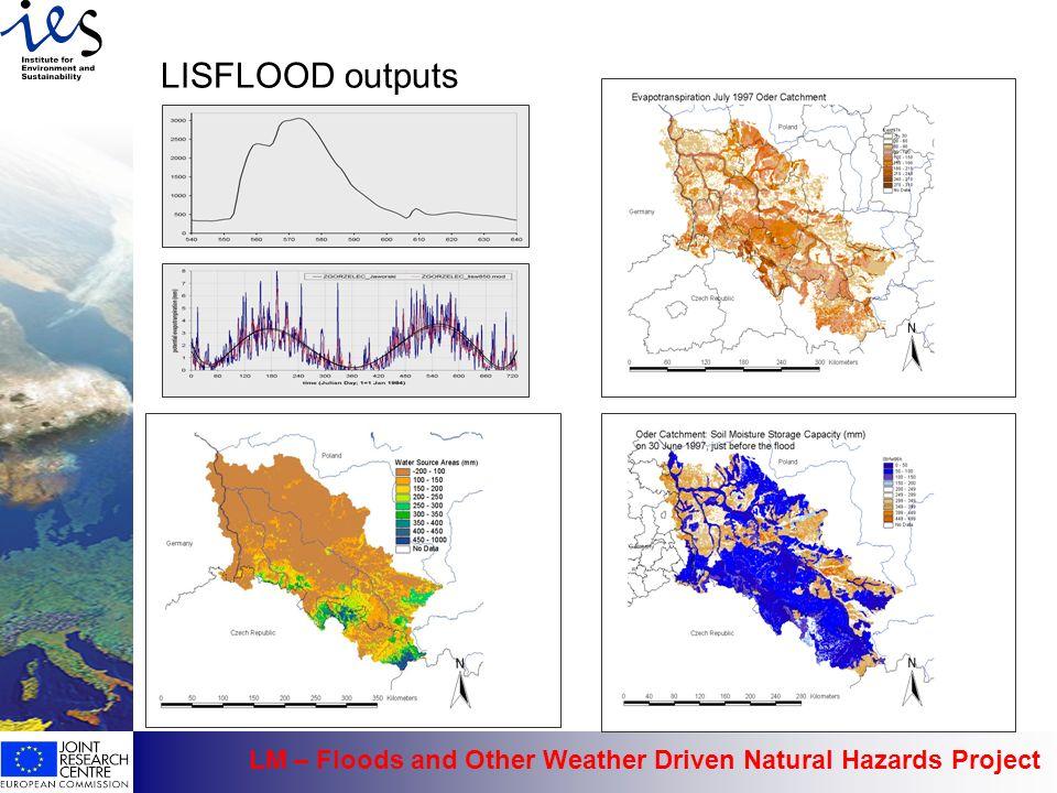 LISFLOOD outputs