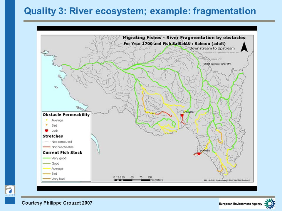 Quality 3: River ecosystem; example: fragmentation Courtesy Philippe Crouzet 2007