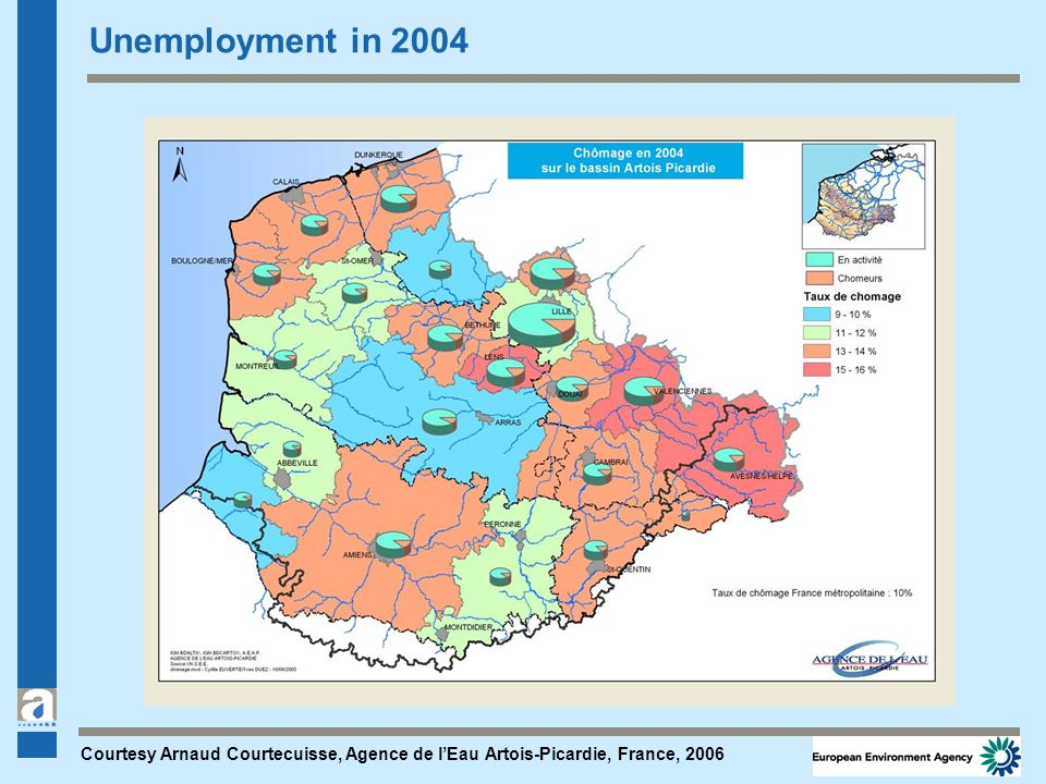 Unemployment in 2004 Courtesy Arnaud Courtecuisse, Agence de lEau Artois-Picardie, France, 2006