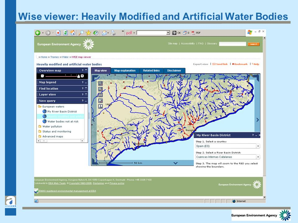 Wise viewer: Heavily Modified and Artificial Water Bodies