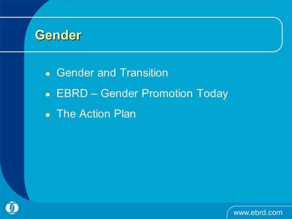 Gender Gender and Transition EBRD – Gender Promotion Today The Action Plan