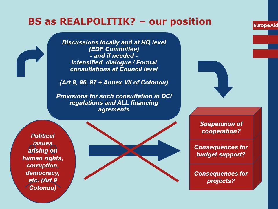 EuropeAid BS as REALPOLITIK.