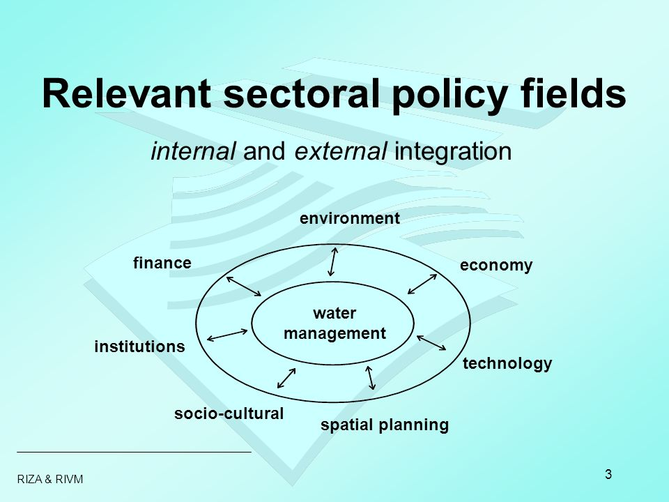 RIZA & RIVM 4 Integrated Water Management IWM = a decision making problem taking into account ecological health of (water)system stakeholders interests –economic –emotional steering options IWM IEA