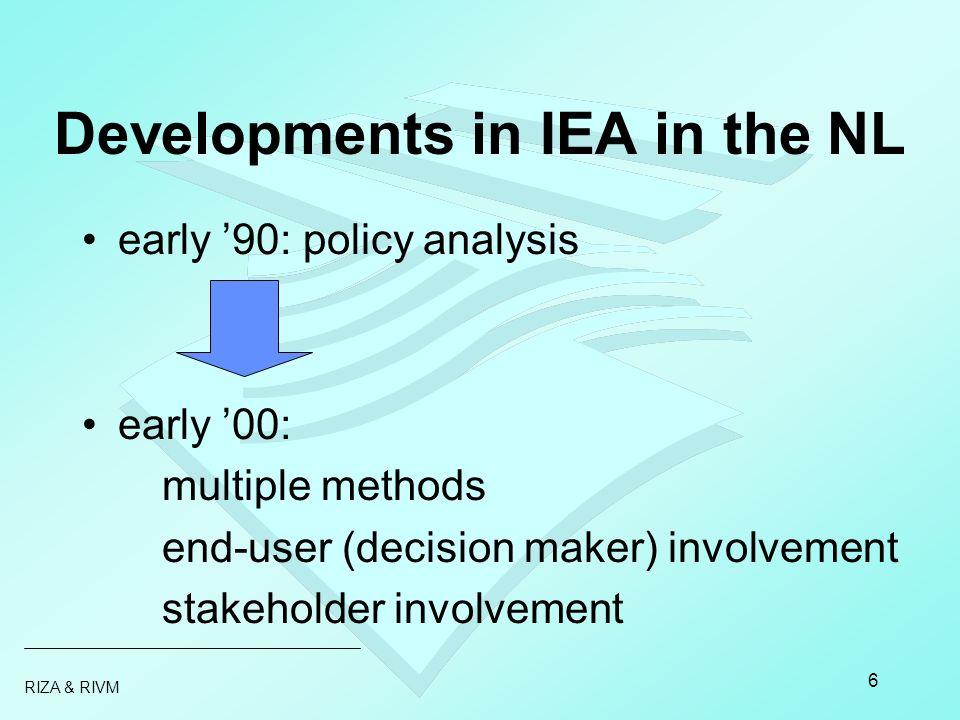 RIZA & RIVM 7 Aquatic Outlook: 4 methods to assess developments reality imagination