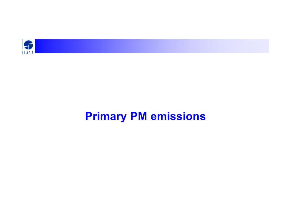 Primary PM emissions