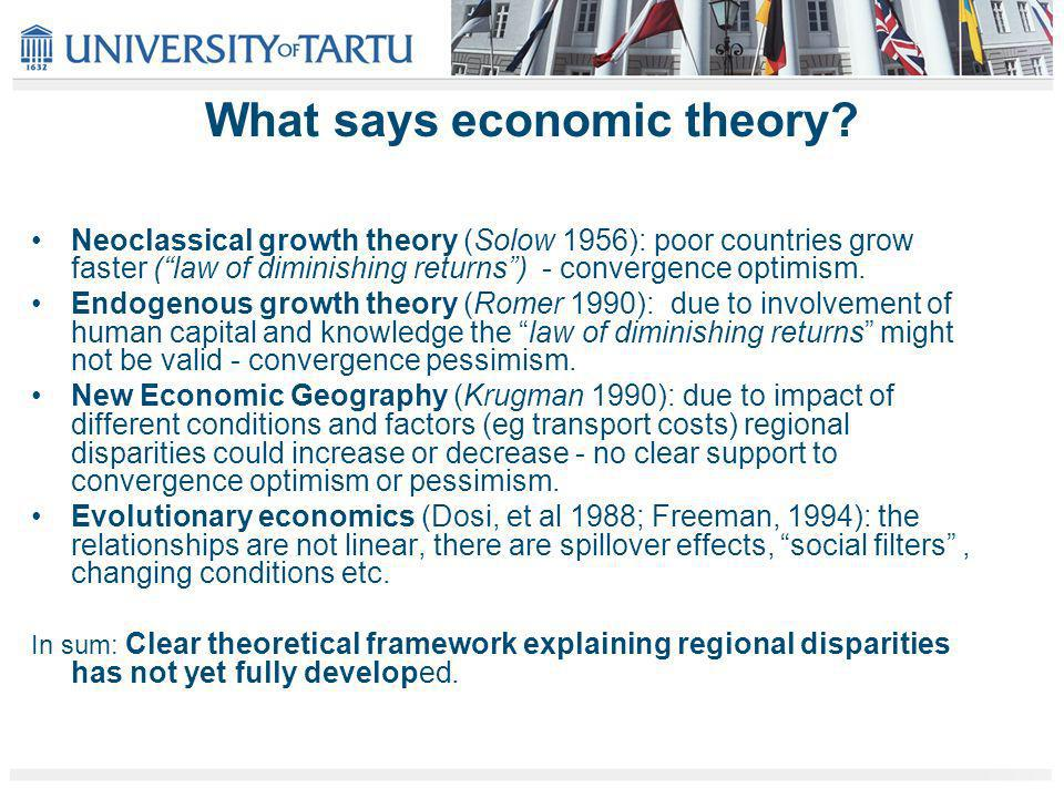 What says economic theory.