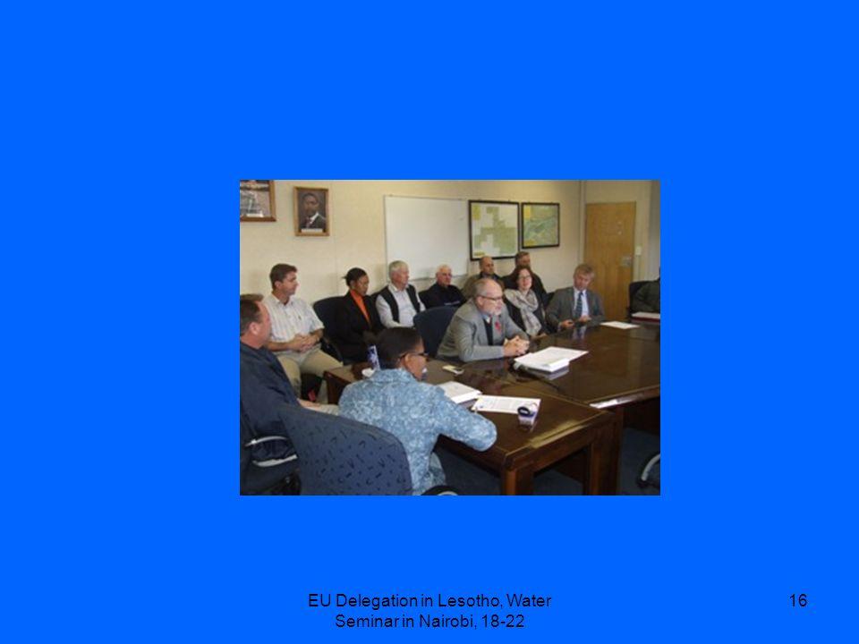EU Delegation in Lesotho, Water Seminar in Nairobi, 18-22 16
