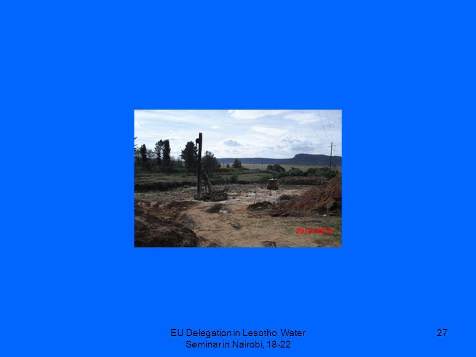 EU Delegation in Lesotho, Water Seminar in Nairobi, 18-22 27