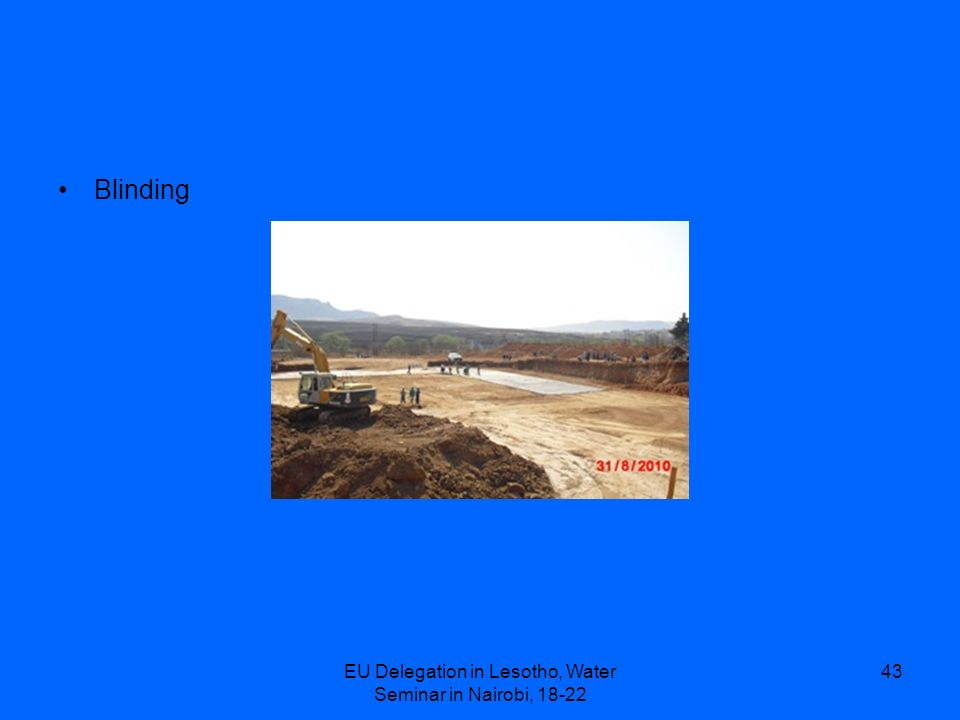 EU Delegation in Lesotho, Water Seminar in Nairobi, 18-22 43 Blinding
