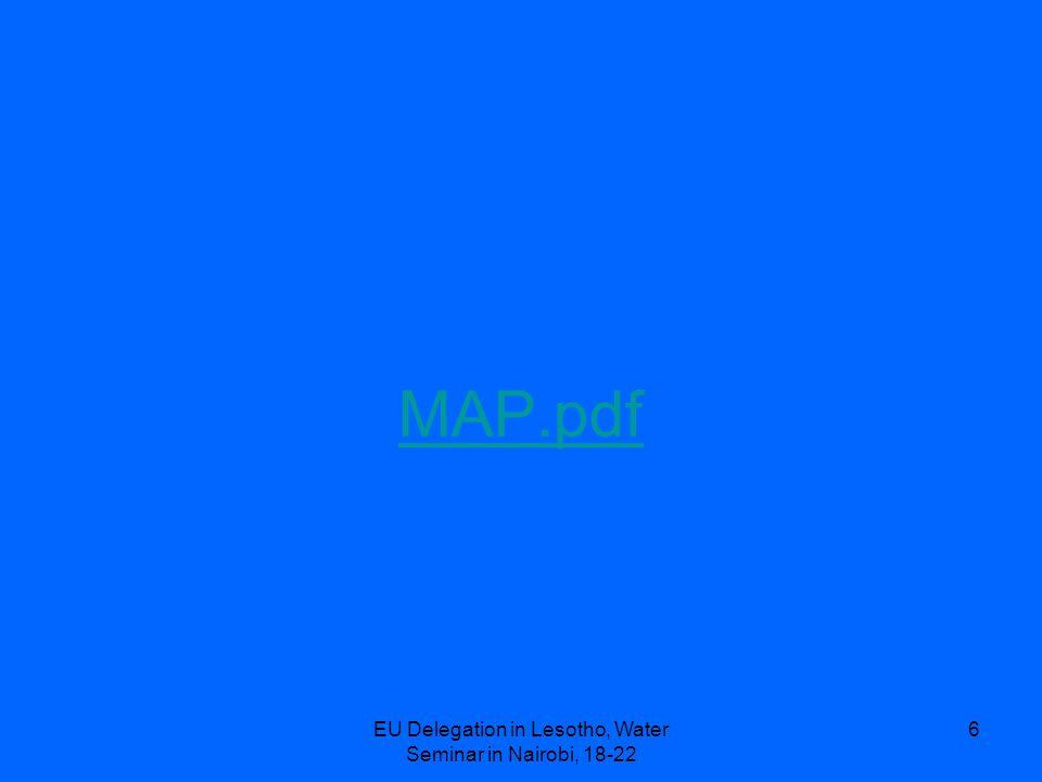 EU Delegation in Lesotho, Water Seminar in Nairobi, 18-22 6 MAP.pdf