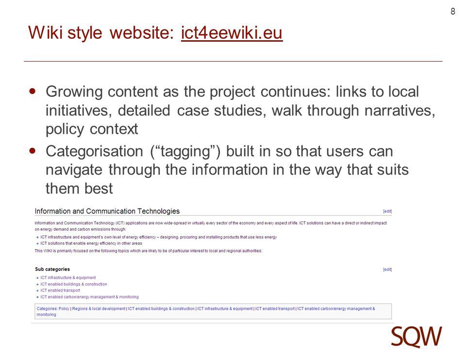 7 Wiki style website: ict4eewiki.eu