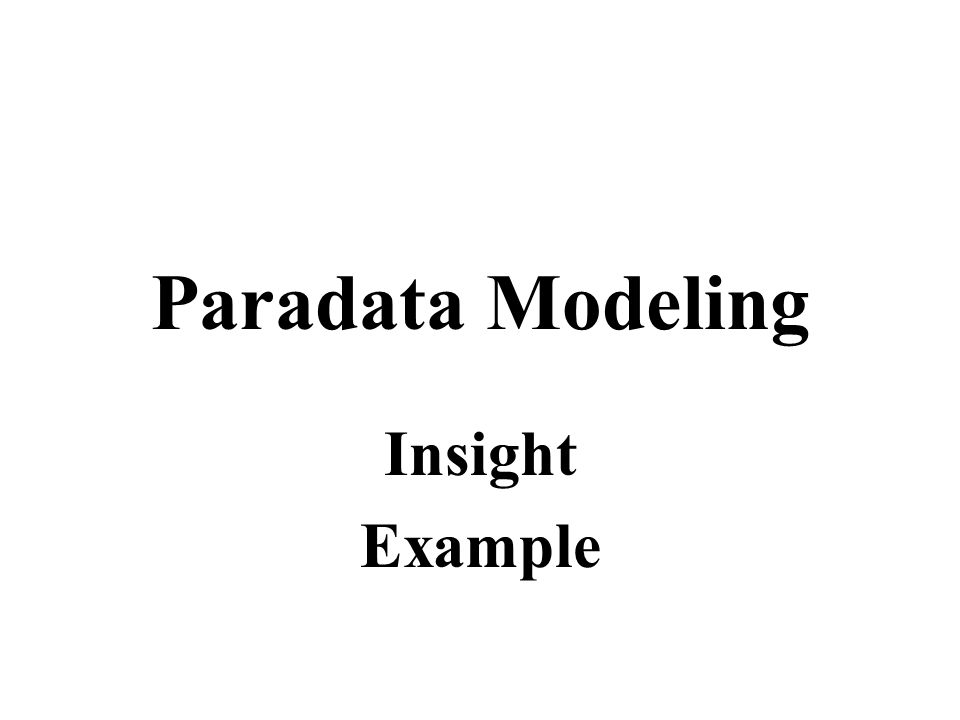 Paradata Modeling Insight Example