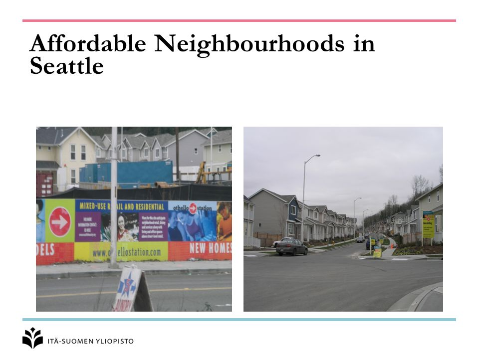 Affordable Neighbourhoods in Seattle