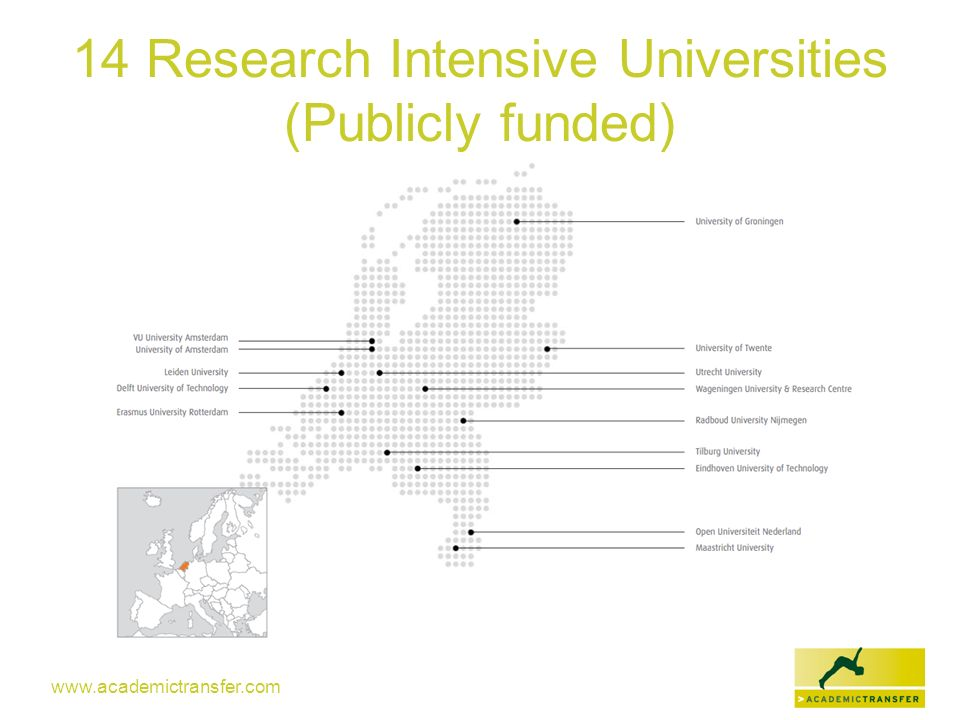 www.academictransfer.com 14 Research Intensive Universities (Publicly funded)
