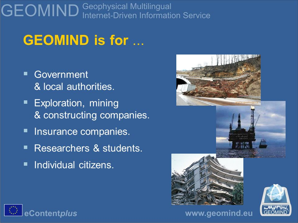 What is GEOMIND mission.