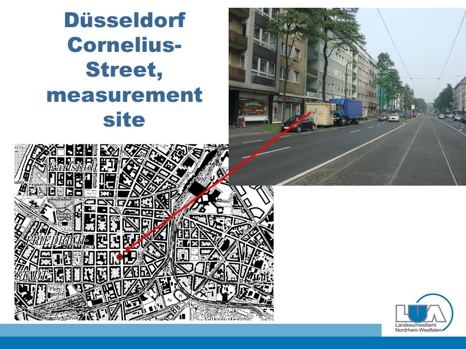 Düsseldorf Cornelius- Street, measurement site