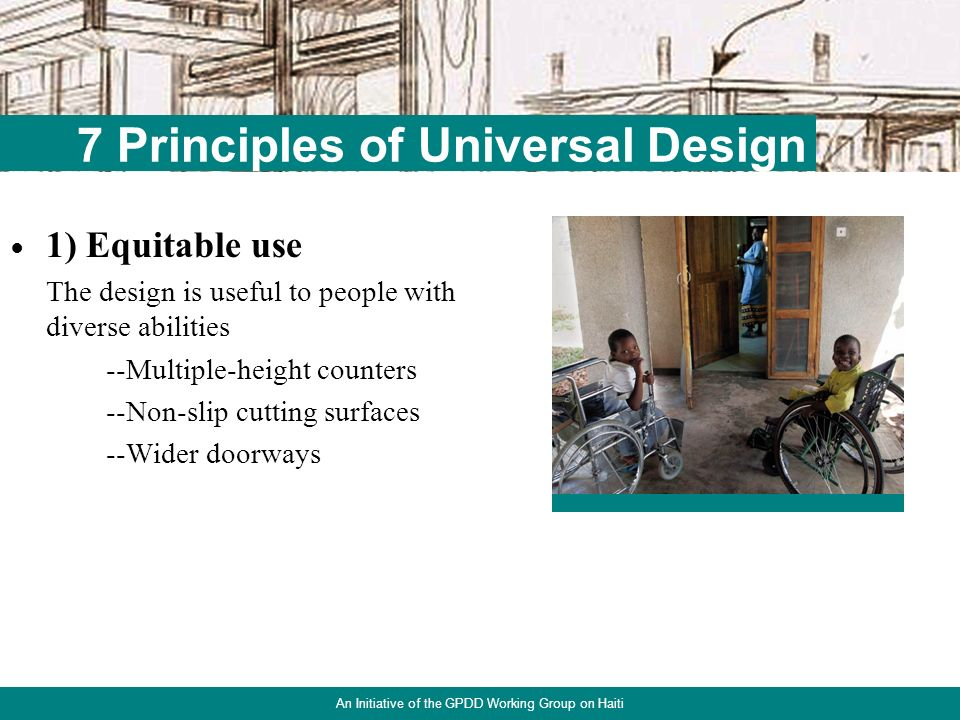 15 UD in Housing An Initiative of the GPDD Working Group on Haiti