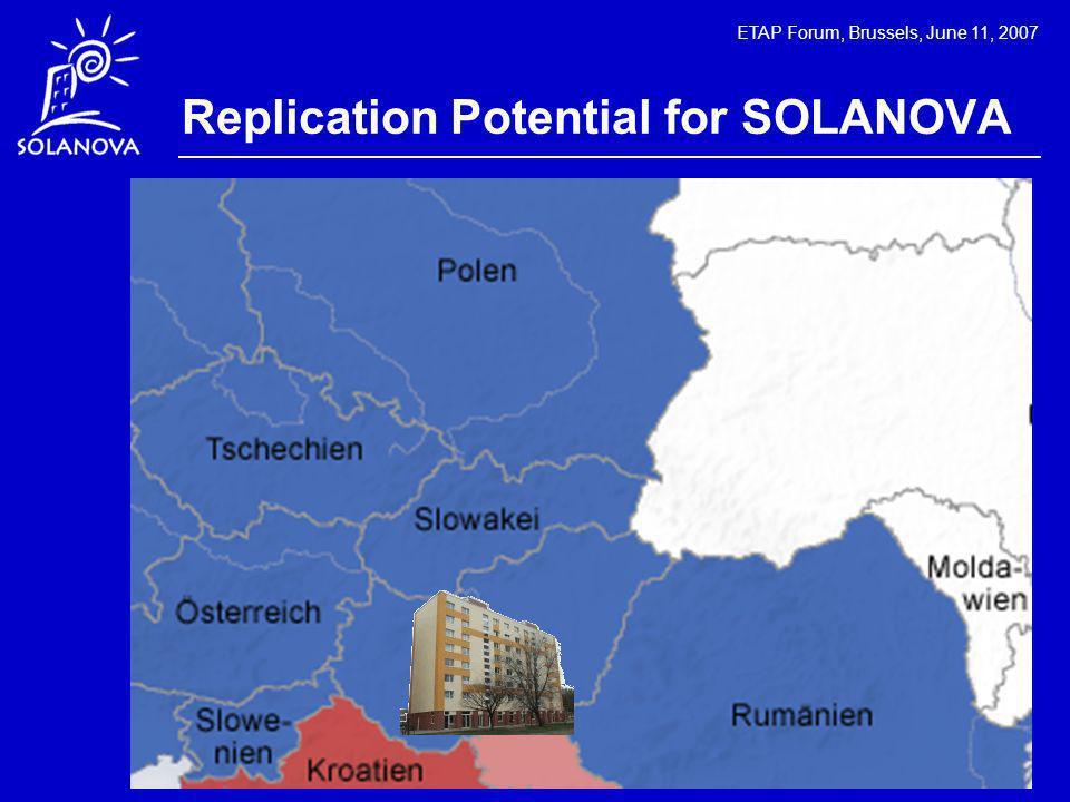 ETAP Forum, Brussels, June 11, 2007 Replication Potential for SOLANOVA