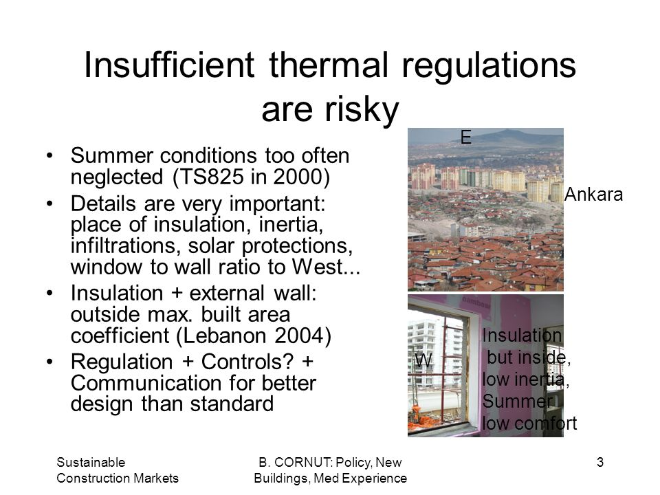 Sustainable Construction Markets B.