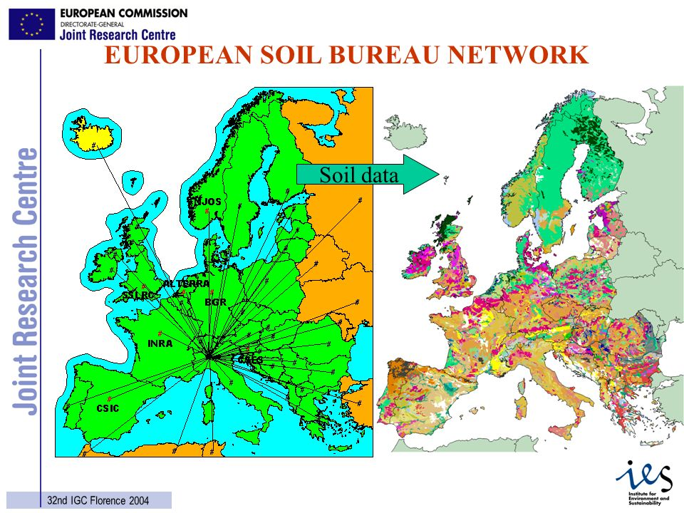 16 32nd IGC Florence 2004 EUROPEAN SOIL BUREAU NETWORK Soil data