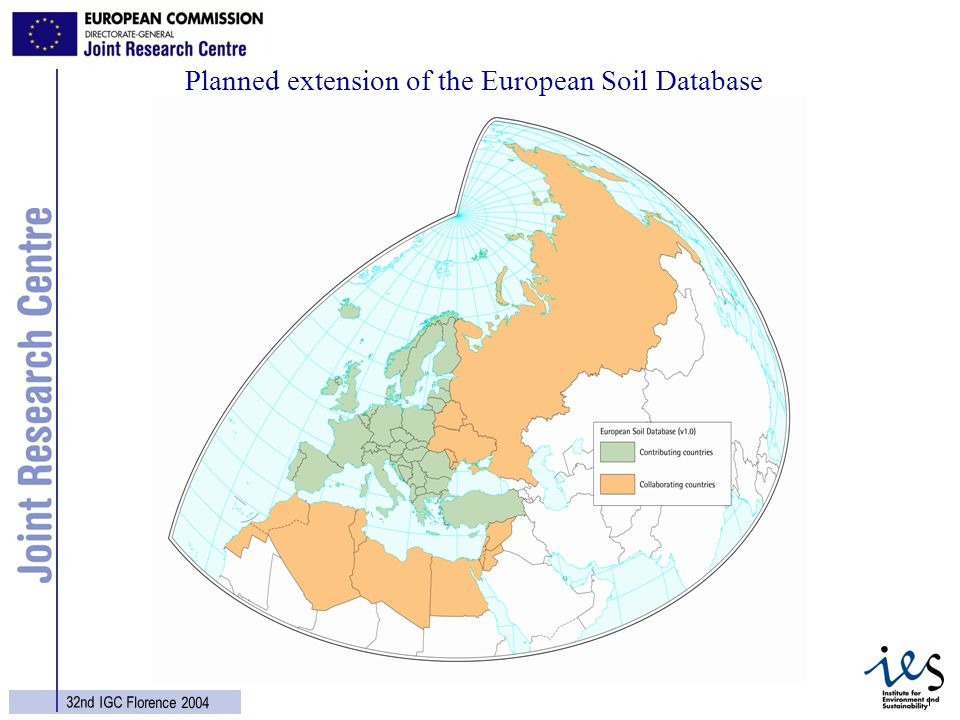 18 32nd IGC Florence 2004 Planned extension of the European Soil Database