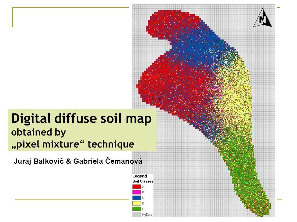 Digital diffuse soil map obtained by pixel mixture technique Juraj Balkovič & Gabriela Čemanová