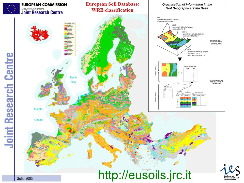 24 Sofia 2005 European Soil Database: WRB classification http://eusoils.jrc.it