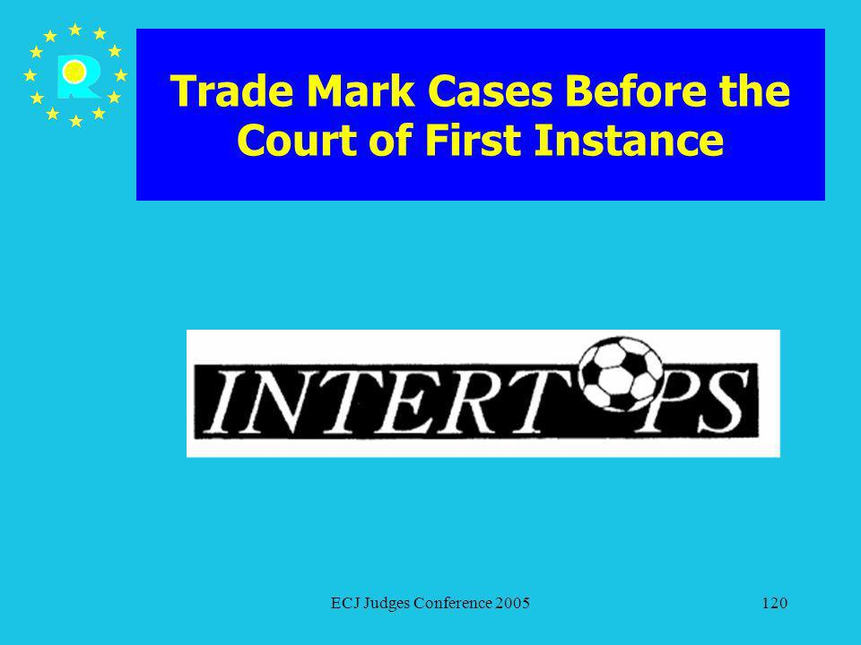 ECJ Judges Conference 2005120 Trade Mark Cases Before the Court of First Instance
