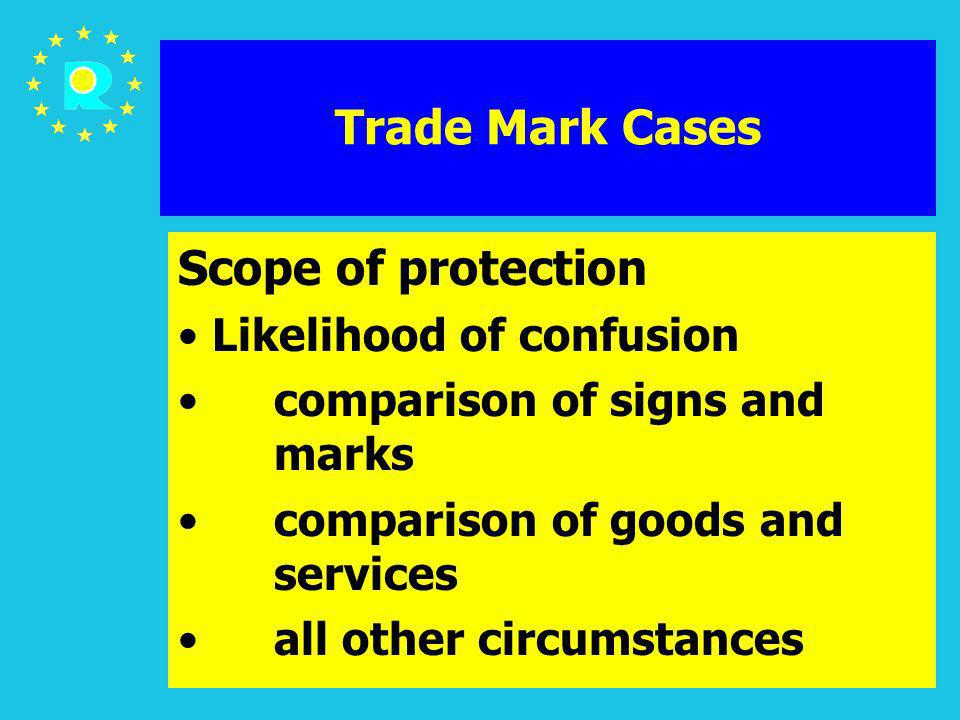 ECJ Judges Conference 2005132 Trade Mark Cases Scope of protection Likelihood of confusion comparison of signs and marks comparison of goods and servi