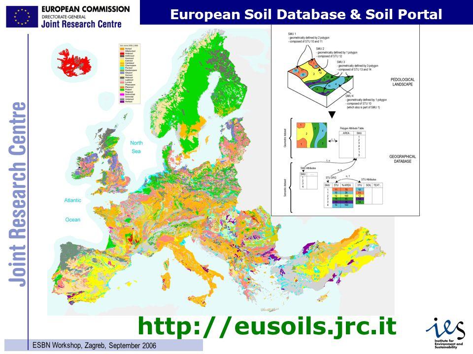 15 ESBN Workshop, Zagreb, September 2006 http://eusoils.jrc.it European Soil Database & Soil Portal