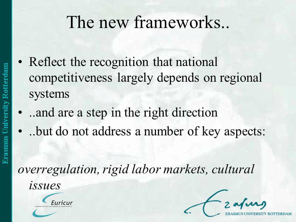 The new frameworks..