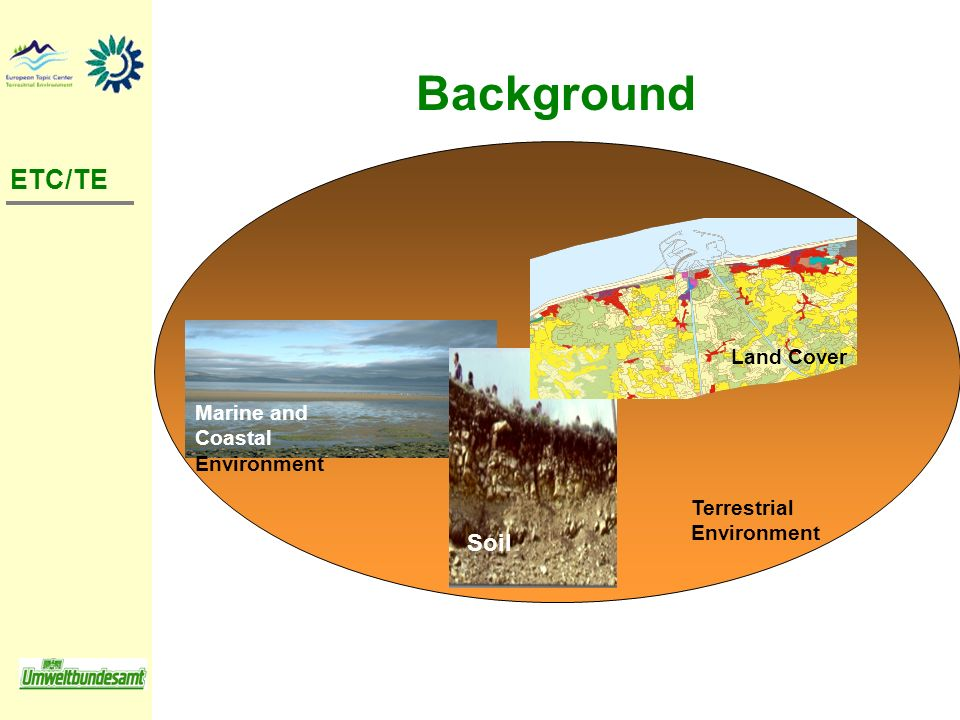 Background ETC/TE Terrestrial Environment Marine and Coastal Environment Soil Land Cover