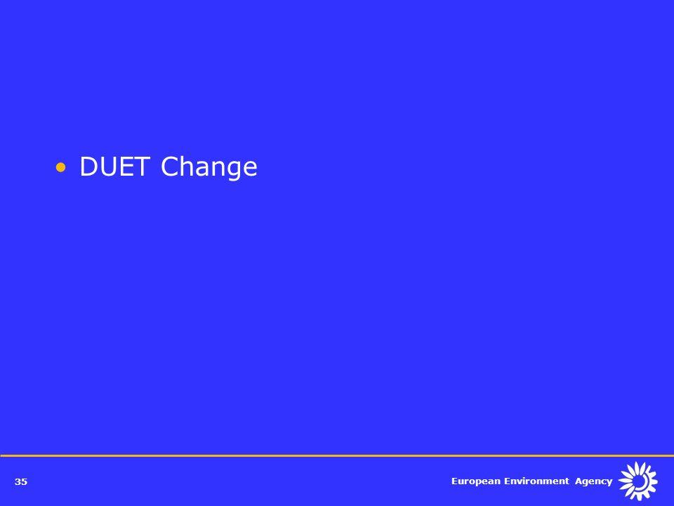 European Environment Agency 35 DUET Change